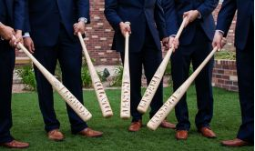 Groomsman Bat Group Lifestyle Photo